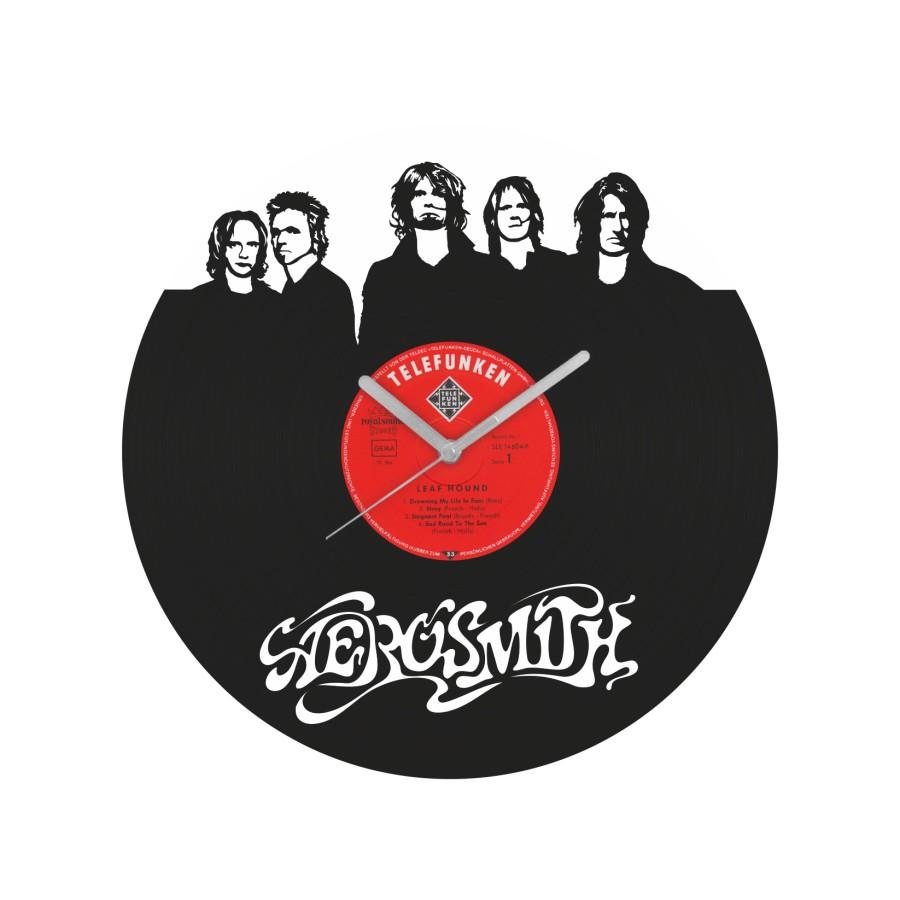 Aerosmith laikrodis iš perdirbtos vinilinės plokštelės