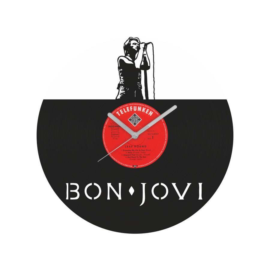 Bon Jovi laikrodis iš perdirbtos vinilinės plokštelės
