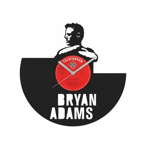 Bryan Adams laikrodis iš perdirbtos vinilinės plokštelės