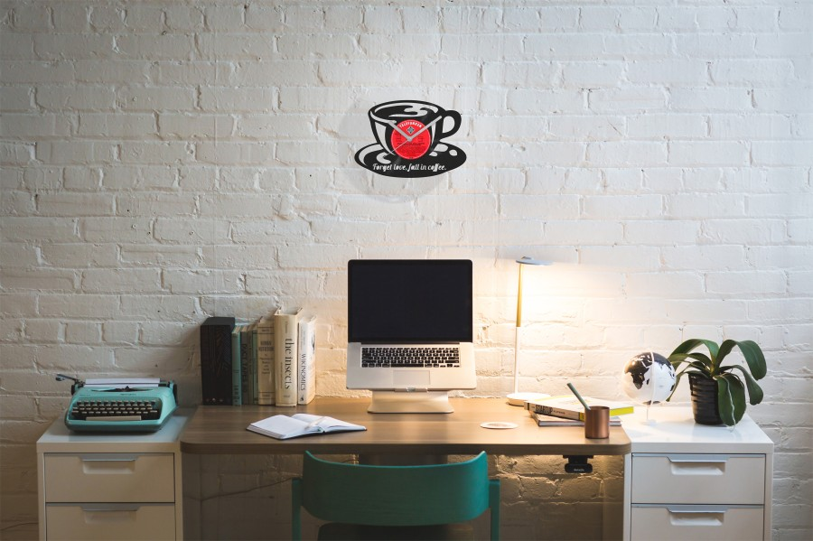 Coffee Vinyl Record Wall Clock
