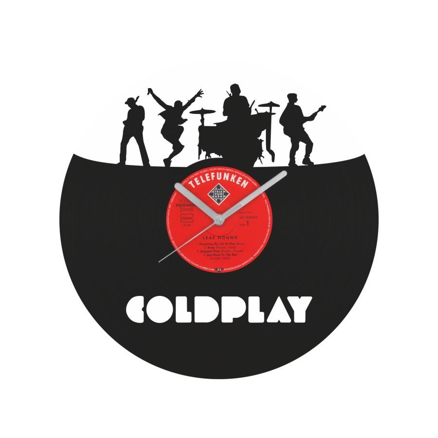 Coldplay v1 laikrodis iš perdirbtos vinilinės plokštelės