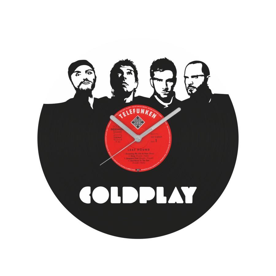 Coldplay v2 laikrodis iš perdirbtos vinilinės plokštelės