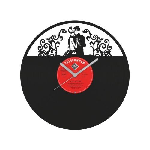 Dancing Couple laikrodis iš perdirbtos vinilinės plokštelės