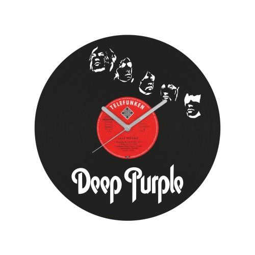 Deep Purple laikrodis iš perdirbtos vinilinės plokštelės