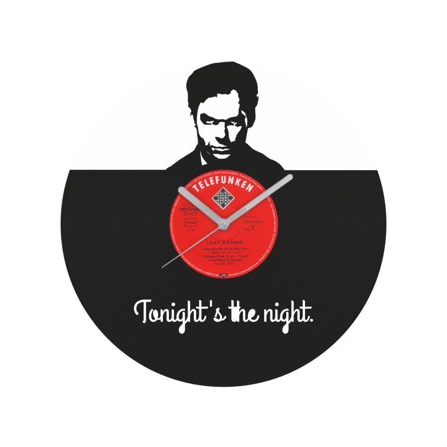 Dexter laikrodis iš perdirbtos vinilinės plokštelės
