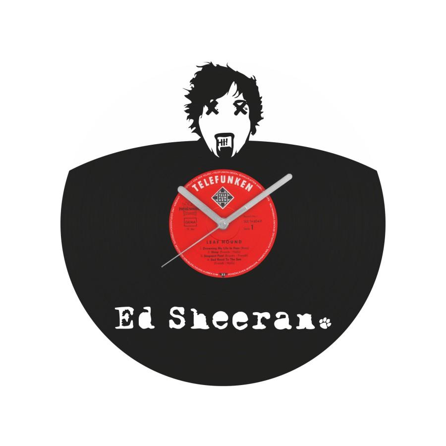 Ed Sheeran laikrodis iš perdirbtos vinilinės plokštelės