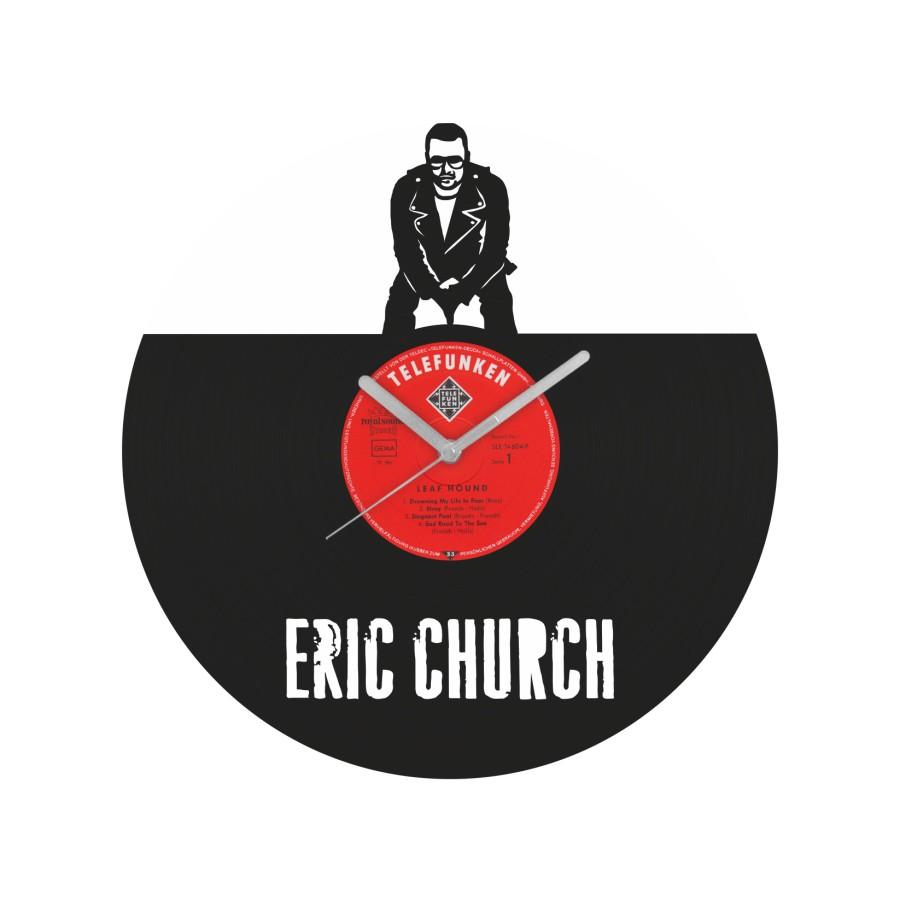 Eric Church laikrodis iš perdirbtos vinilinės plokštelės