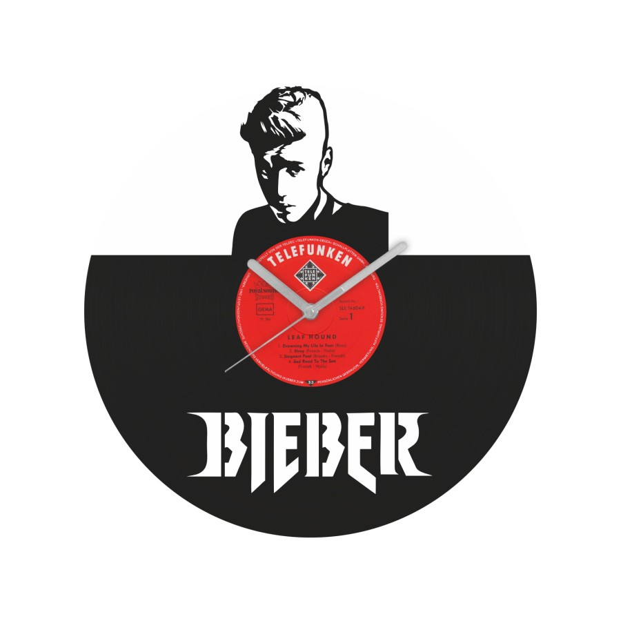 Justin Bieber v2 Vinyl Record Wall Clock