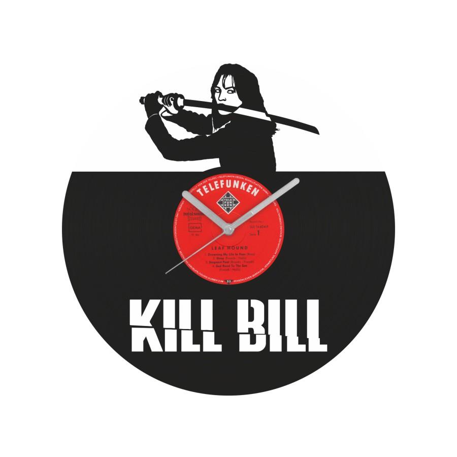 Kill Bill laikrodis iš perdirbtos vinilinės plokštelės