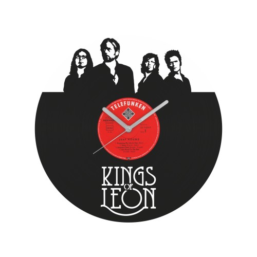 Kings of Leon v1 laikrodis iš perdirbtos vinilinės plokštelės