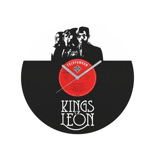 Kings of Leon v2 laikrodis iš perdirbtos vinilinės plokštelės