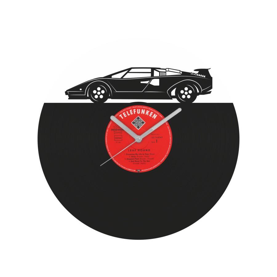 Lamborghini Countach Vinyl Record Wall Clock