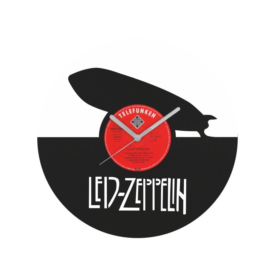 Led Zeppelin laikrodis iš perdirbtos vinilinės plokštelės