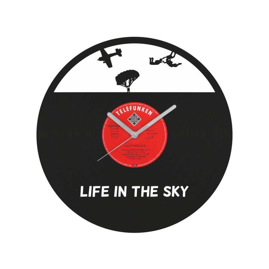 Life In The Sky Vinyl Record Wall Clock