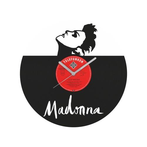 Madonna laikrodis iš perdirbtos vinilinės plokštelės