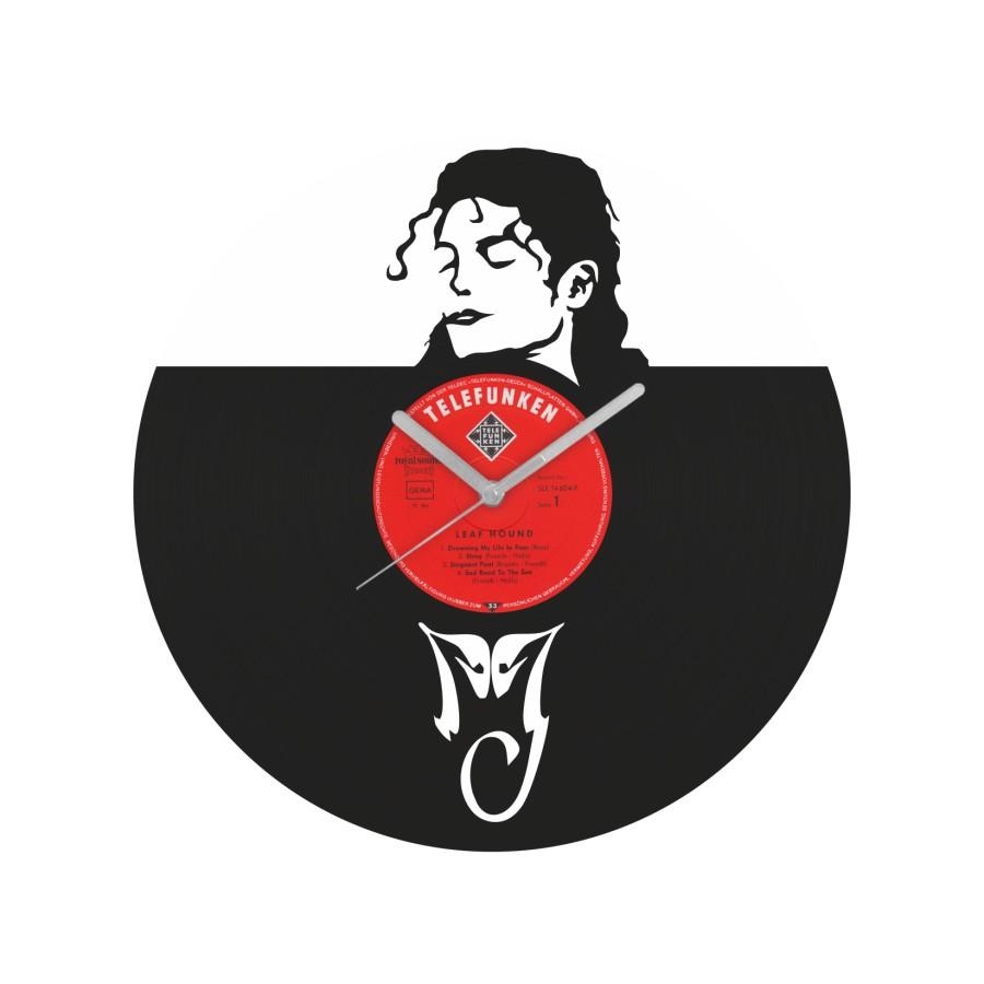 Michael Jackson laikrodis iš perdirbtos vinilinės plokštelės