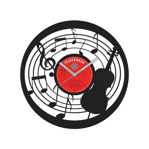 Music laikrodis iš perdirbtos vinilinės plokštelės