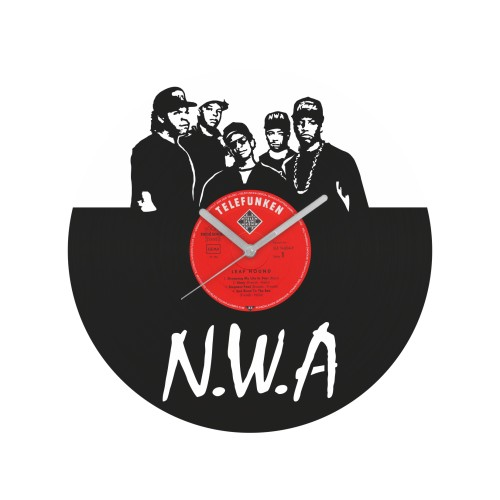 NWA laikrodis iš perdirbtos vinilinės plokštelės