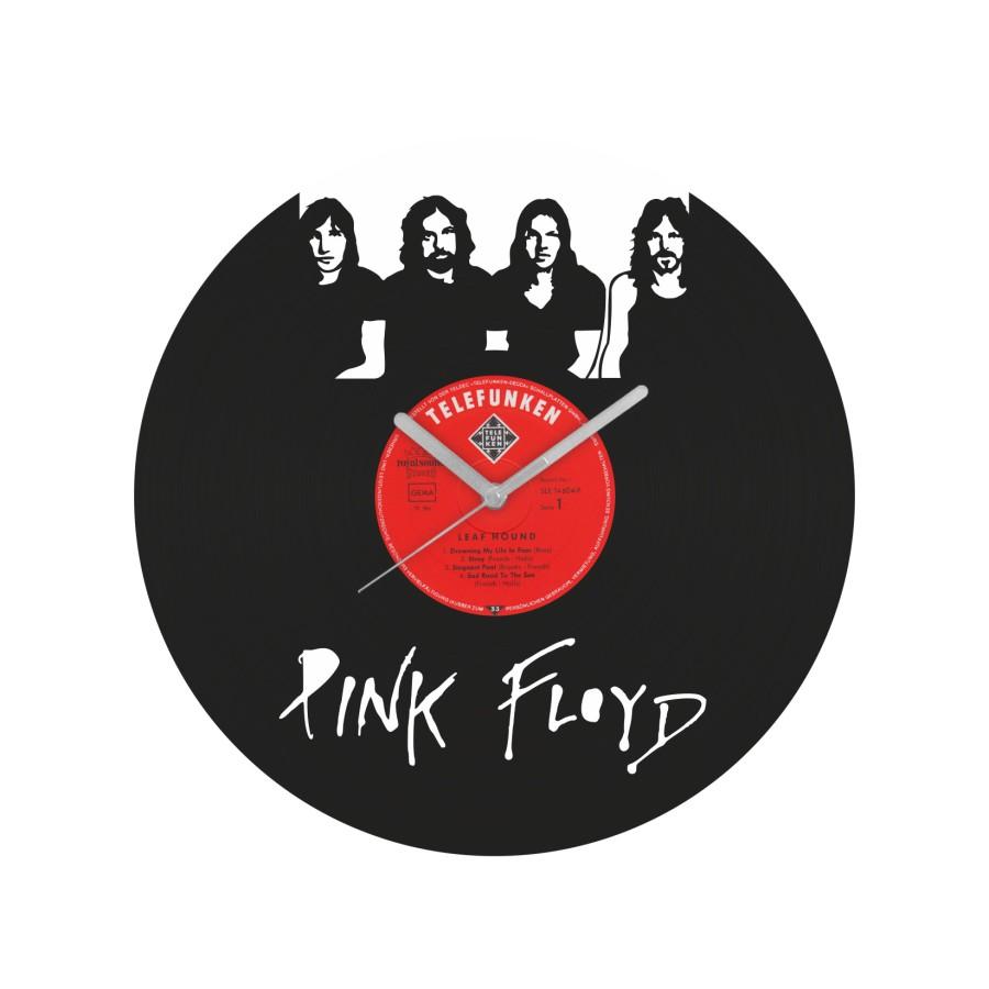 Pink Floyd v1 laikrodis iš perdirbtos vinilinės plokštelės