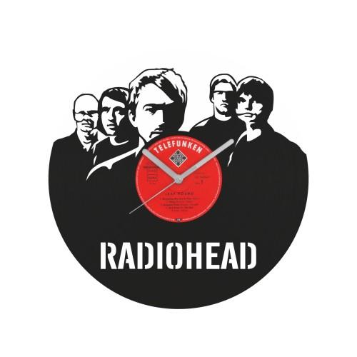 Radiohead laikrodis iš perdirbtos vinilinės plokštelės