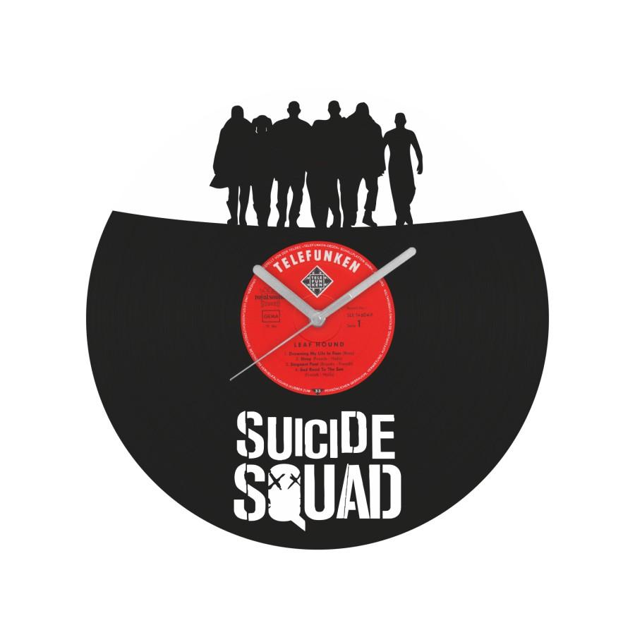 Suicide Squad laikrodis iš perdirbtos vinilinės plokštelės
