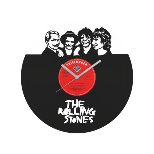 The Rolling Stones laikrodis iš perdirbtos vinilinės plokštelės