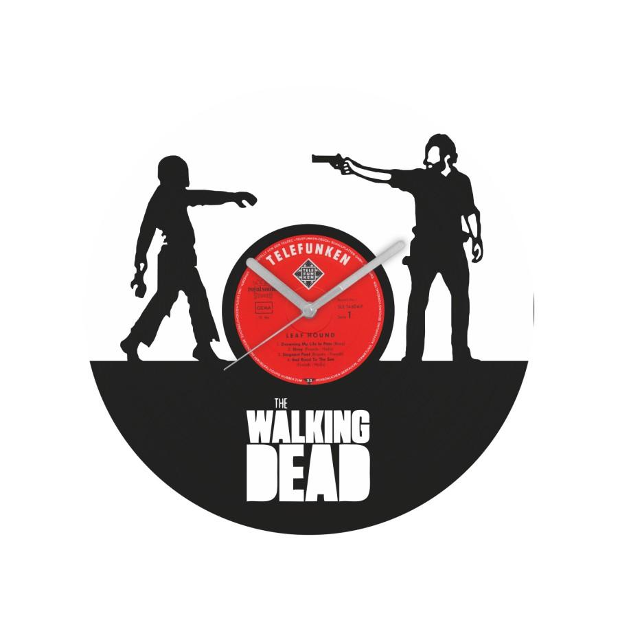 The Walking Dead laikrodis iš perdirbtos vinilinės plokštelės