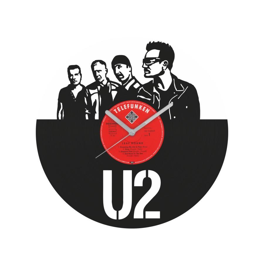 U2 Vinyl Record Wall Clock