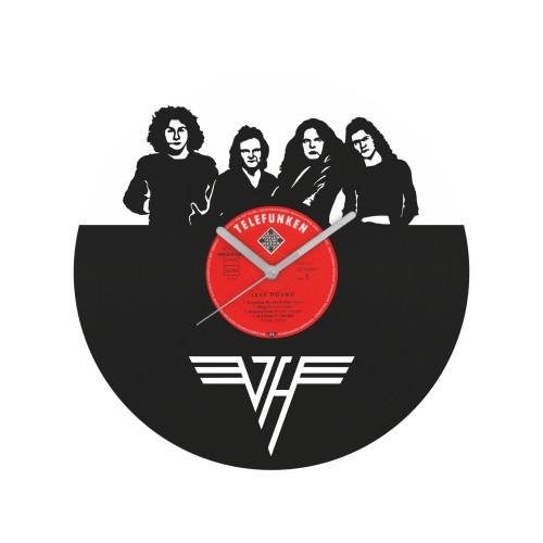 Van Halen laikrodis iš perdirbtos vinilinės plokštelės