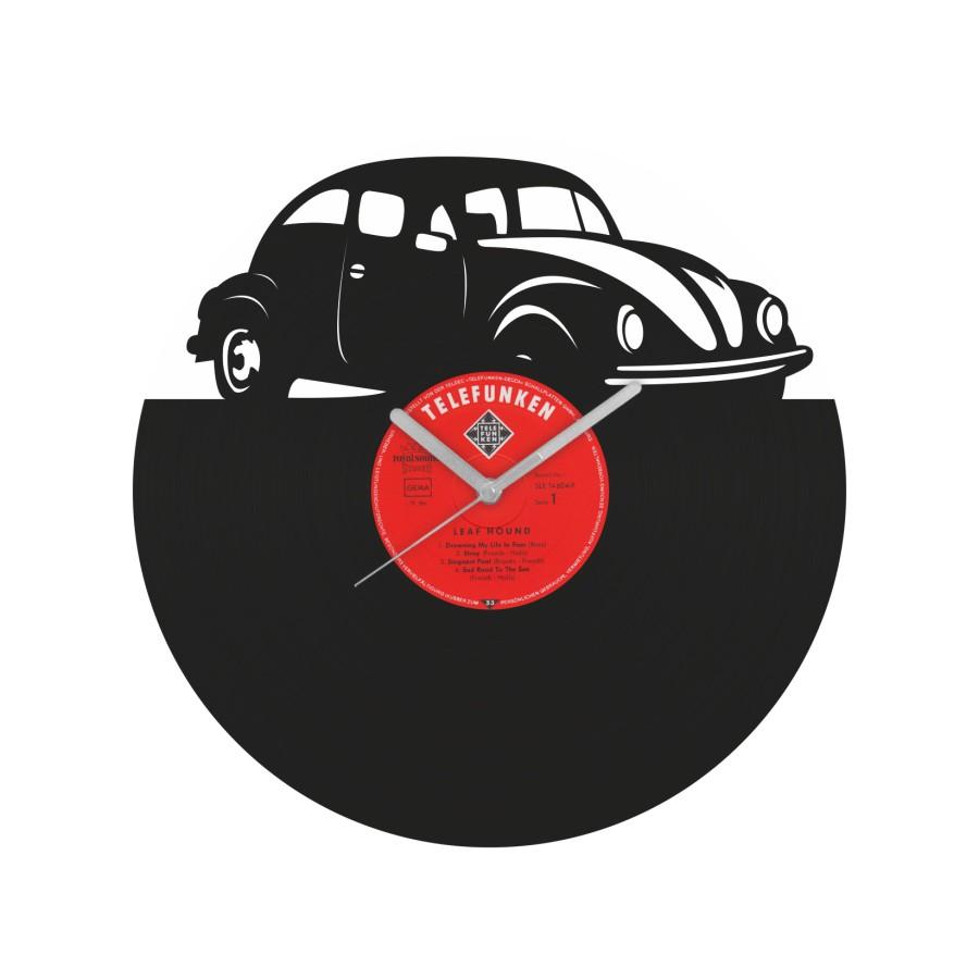 Volkswagen Beetle v2 Vinyl Record Wall Clock